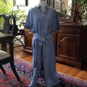 Zara chambray shirtwaist dress